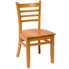 BFM Seating LWC101NTNTW Burlington Natural Colored Beechwood Side Chair