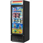 True GDM-23F-HC-LD 27 inch Black One Section Glass Door Merchandiser Freezer with LED Lighting