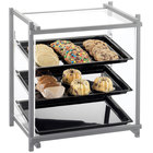 Cal-Mil 1145-74 One by One Three Tier Silver Display Case with Rear Door - 20 1/2 inch x 17 inch x 22 inch