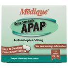 Medique 17564 Extra Strength APAP Acetaminophen Tablets - 24/Box