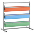 Bulman T368R-48 48 inch Three Deck Tower Paper Rack with Straight Edge Blade