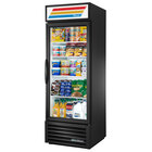 True GDM-23-LD Black Glass Door Refrigerated Merchandiser with LED Lighting