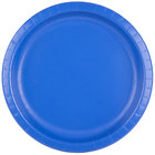 Creative Converting 503147B 10 inch Cobalt Blue Round Paper Plate - 24/Pack