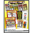 Race Time 1 Window Pull Tab Tickets - 160 Tickets per Deal - $115 Total Payout