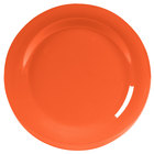 Carlisle 4301052 Durus 10 1/2 inch Sunset Orange Wide Rim Melamine Plate - 12/Case