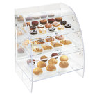 Vollrath XLBC3P-1826-13 Extra Large Acrylic 3 Tray Bakery Case with Mirrored Rear Doors and LED Lighting