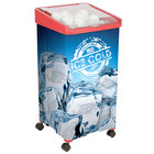 32 Qt. Red Micro Mobile Merchandiser / Cooler - 16 inch x 16 inch x 32 inch