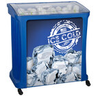 88 Qt. Blue Avalanche Platinum Mobile Merchandiser / Cooler with LED Light - 30 inch x 18 inch x 32 inch