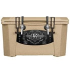 2 Faucet Sandstone 40 Qt. Grizzly Jockey BrewBox with (2) 75' Coils