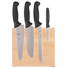 Mercer M21980 Millennia 5-Piece Rubberwood Magnetic Board and Black Handle Knife Set