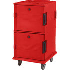 Cambro UPC1600SP158 Hot Red Camcart Ultra Pan Carrier - Front Load Tamper Resistant