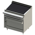 Blodgett BR-48B-36C-NAT Cafe Series Natural Gas 48 inch Radiant Charbroiler with Convection - 150,000 BTU