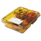 Cambro 853FHC150 Amber Heat Resistant Tray on Tray Insert Tray Lid 8 11/16 inch x 6 5/16 inch - 24/Case
