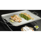 American Metalcraft GSST2514 Rectangular Stainless Steel X-Leg Griddle Stand 25 inch x 14 inch x 4 inch