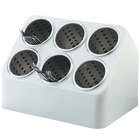 Vollrath 52644 Six Hole Plastic Silverware Cylinder Holder