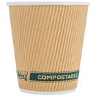 EcoChoice 10 oz. Sleeveless Kraft Compostable and Biodegradable Paper Hot Cup - 500/Case