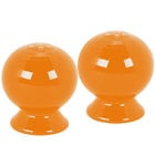 Homer Laughlin 497325 Fiesta Tangerine Salt and Pepper Set - 4 Sets / Case