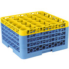 Carlisle RW30-3C411 OptiClean NeWave 30 Compartment Yellow Color-Coded Glass Rack with 4 Extenders