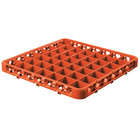 Carlisle RE49C24 OptiClean 49 Compartment Orange Color-Coded Glass Rack Extender
