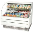 Turbo Air TOM-50L White 50 inch Low Profile Horizontal Air Curtain Display Case - 11.7 Cu. Ft.