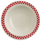 Homer Laughlin 1655413 Scarlet Checkers 3.25 oz. Ivory (American White) Narrow Rim Fruit Dish - 36/Case