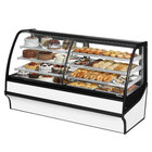 True TDM-DZ-77-GE/GE 77 inch White Curved Glass Dual Dry / Refrigerated Bakery Display Case