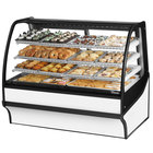 True TDM-DC-59-GE/GE 59 inch White Curved Glass Dry Bakery Display Case