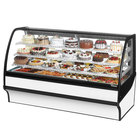 True TDM-R-77-GE/GE 77 inch White Curved Glass Refrigerated Bakery Display Case