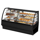 True TDM-DZ-77-GE/GE 77 inch Black Curved Glass Dual Dry / Refrigerated Bakery Display Case