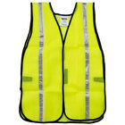 Lime High Visibility Safety Vest with Velcro® Closure and 1 inch Reflective Tape