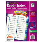 Avery AVE11321 Ready Index 24-Tab Double-Column Multi-Color Table of Contents Dividers