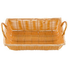 12 inch x 8 inch x 3 1/2 inch Rectangular Woven Basket with Handles