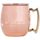 20 oz. Moscow Mule Mug with Hammered Copper Finish and Brass Handle - 4/Pack