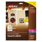 """Avery AVE22805 Easy Peel 1 1 /2"""" x 1 1/2"""" White Square Print-to-the-Edge Labels - 600/Pack"""