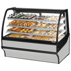 True TDM-DC-59-GE/GE 59 inch Stainless Steel Curved Glass Dry Bakery Display Case