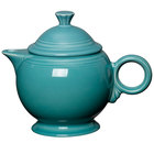 Homer Laughlin 496107 Fiesta Turquoise 44 oz. Covered Teapot - 4/Case