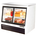 True TSID-48-4-L Low Height Four Door Refrigerated Deli Case - 17 Cu. Ft.