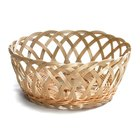Tablecraft 1135W Natural Open Weave Round Rattan Basket 9 inch x 3 1/4 inch 12 / Pack