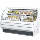 Turbo Air TOM-60L White 63 inch Low Profile Horizontal Air Curtain Display Case - 14.7 Cu. Ft.