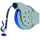 T&S B-7232-01 35' Open Epoxy Coated Steel Hose Reel with EB-0107 High-Flow Spray Valve