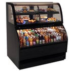 Structural Concepts Harmony HMBC4-QS Black 51 inch Refrigerated Dual Service Merchandiser Case - 16.14 Cu. Ft., 220V
