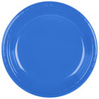 Creative Converting 28145031B 10 1/4 inch True Blue Plastic Plate - 50 / Pack