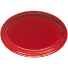Homer Laughlin 458326 Fiesta Scarlet 13 5/8 inch Platter - 12 / Case