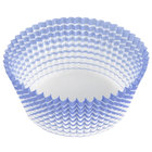 Ateco 6438 2 inch x 1 1/4 inch Blue Striped Baking Cups (August Thomsen) - 200/Box