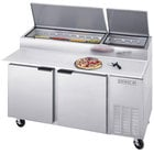 Beverage-Air DP67 67 inch Two Door Pizza Prep Table
