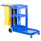 Continental 184BL Janitor Cart with Vinyl Bag