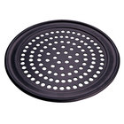 American Metalcraft HCTP9SP 9 inch Super Perforated Hard Coat Anodized Aluminum Wide Rim Pizza Pan