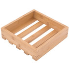 American Metalcraft WCBS 9 inch x 9 inch x 2 3/8 inch Bamboo Small Wood Crate