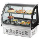 Vollrath 40844 60 inch Curved Glass Drop In Refrigerated Countertop Display Cabinet