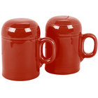 Homer Laughlin 756326 Fiesta Scarlet Rangetop Salt and Pepper Shaker Set - 4/Case